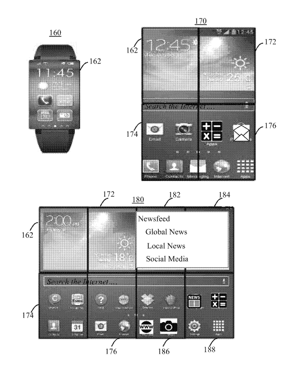 This is the smartwatch that IBM is hatching, the screen can expand into a smartphone or tablet - Photo 1.