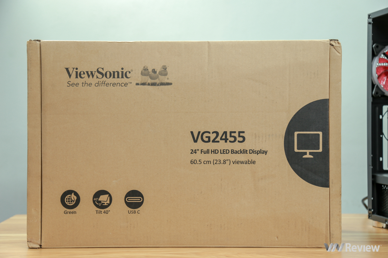ViewSonic VG2455: Display well, but flexibility is the real highlight - VnReview