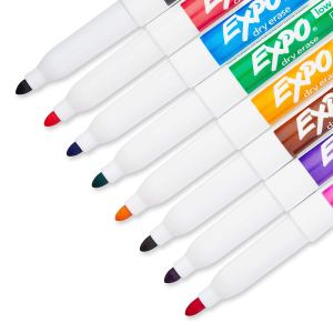 EXPO Low-Odor Dry Erase Markers With Fine Tip