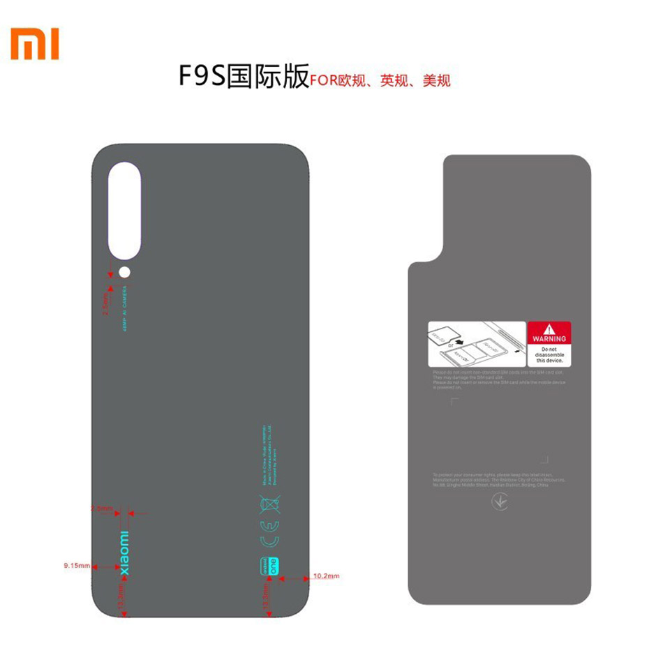 Sforum - The latest technology information page Mi-A3-FCC-1 Xiaomi Mi A3 has just been FCC approved with 3 48MP rear cameras, running Android One