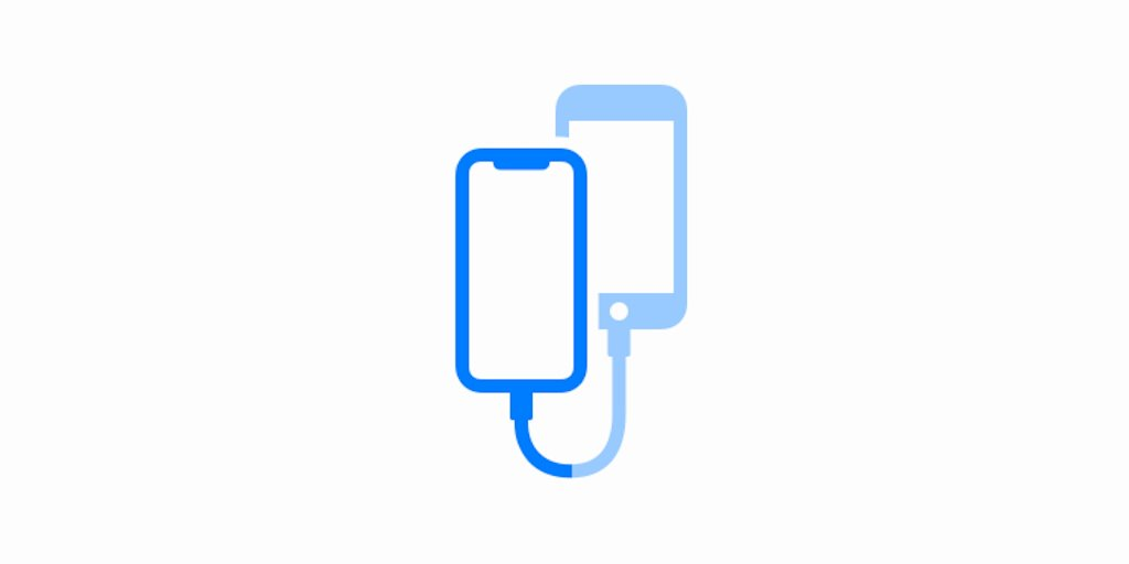 iOS 13 allows data transfer between two iPhones with cables?