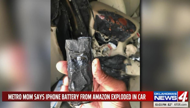 iPhone exploded to burn a new car