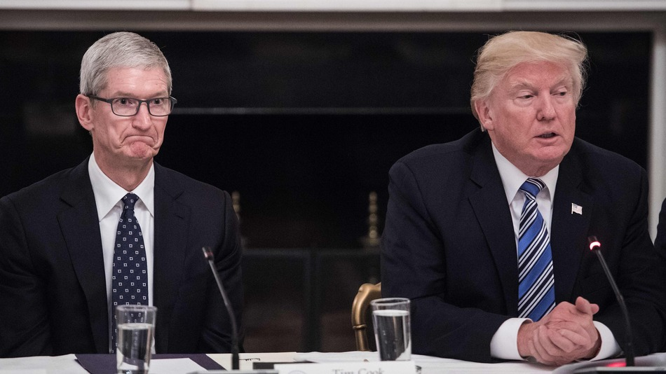 Sforum - Latest technology information page trump-1 After dinner with Tim Cook, President Trump acknowledged that the new 10% tax is unfair to Apple.