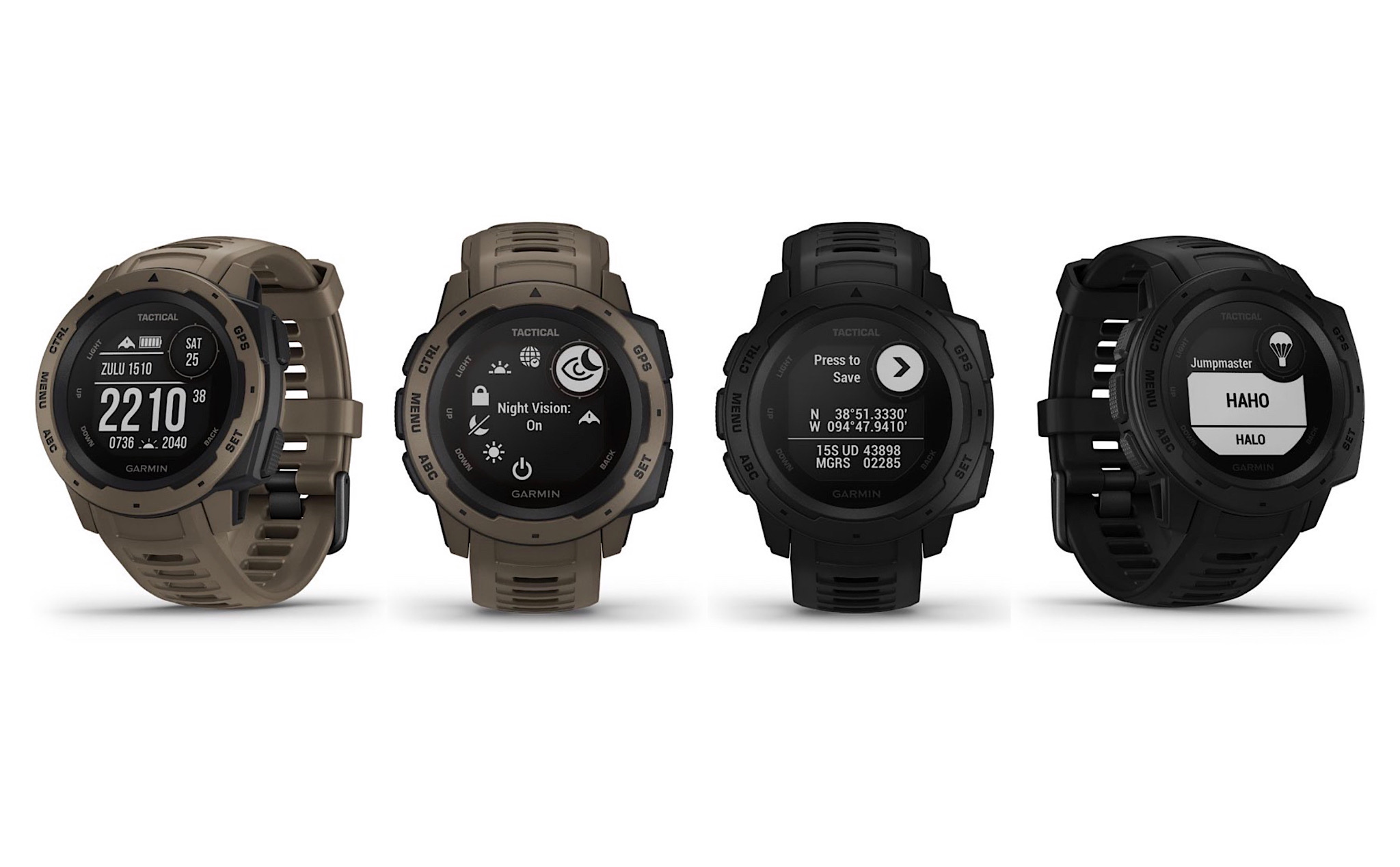 Garmin Instinct has additional Tactical versions, colors and new features full of military features