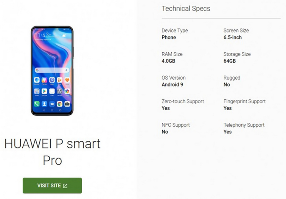 Sforum - Latest technology information page Huawei-P-Smart-Pro-1 Huawei P Smart Pro specifications revealed by Google