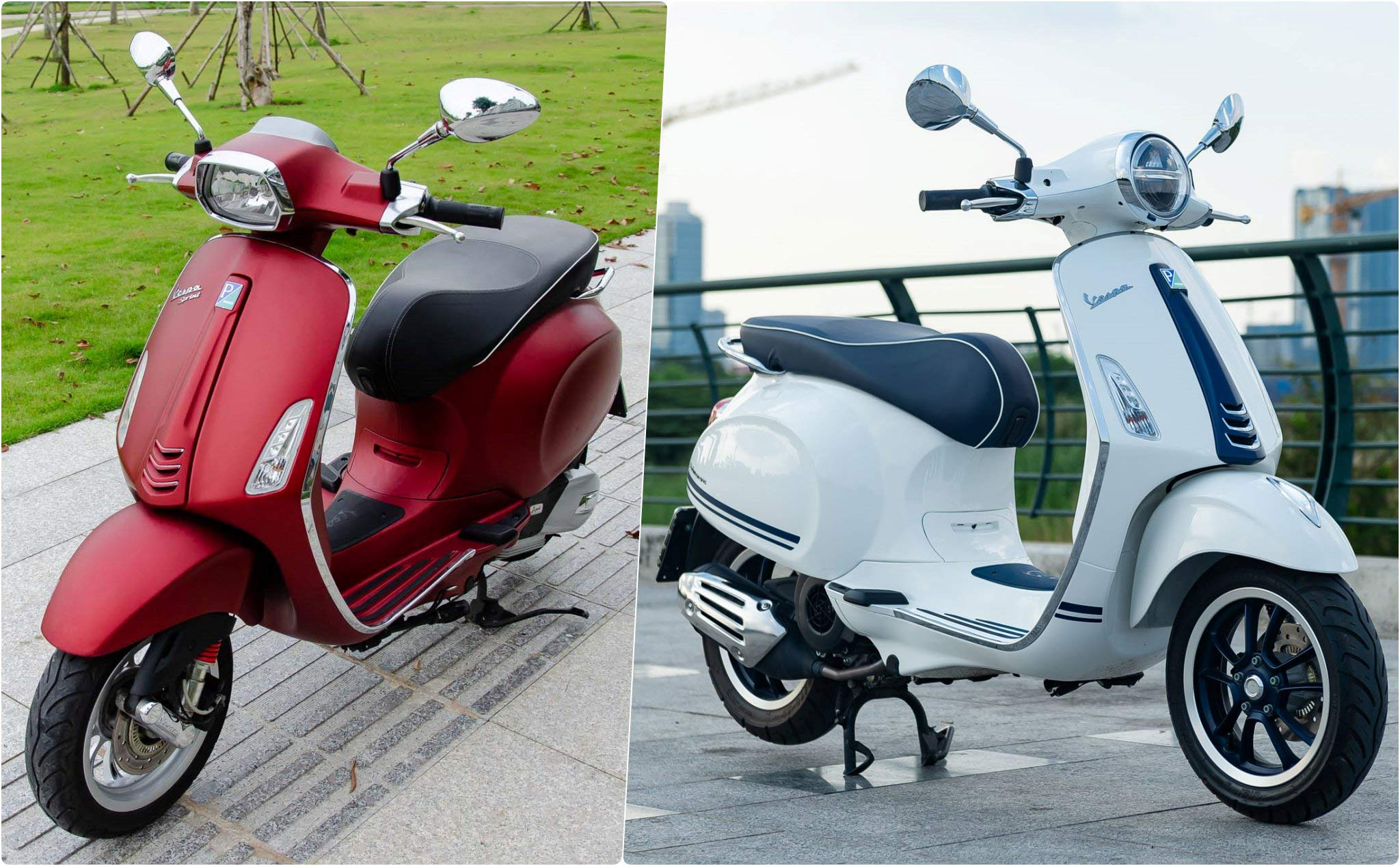 The 25-year-old 1m60 female should buy Vespa Sprint ABS or Primavera Yacht Club?