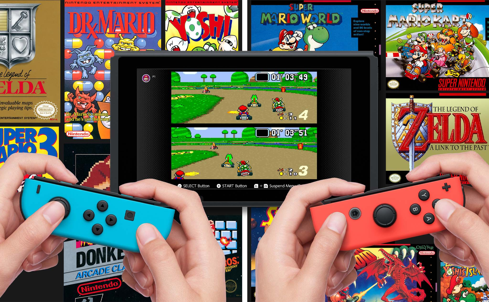 20 SNES games have been posted on Switch: Super Mario World, Super Metroid, Super Mario Kart