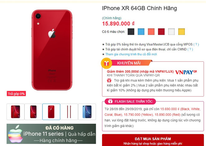 iPhone XR is the strongest after 1 week of iPhone 11 in Vietnam