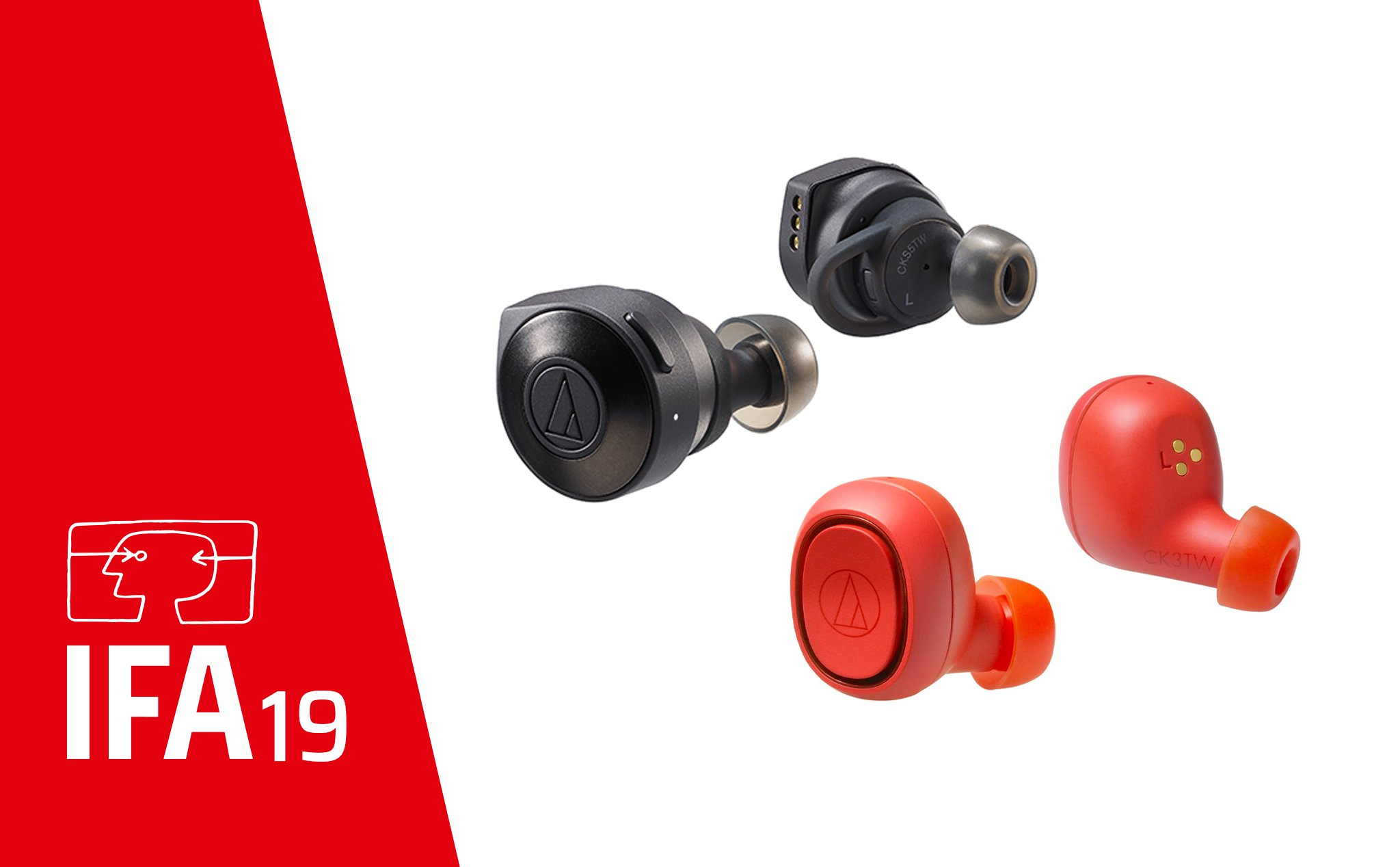 IFA2019: Audio-Technica introduces the cheap True Wireless duo ATH-CKS5TW and ATH-CKS3TW.