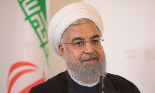 President Rouhani in an interview in 2018. Photo: Reuters.