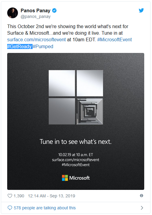 Microsoft sent an invitation to the Surface event in early October, promising to bring a lot of new hardware and experiences - Photo 1.