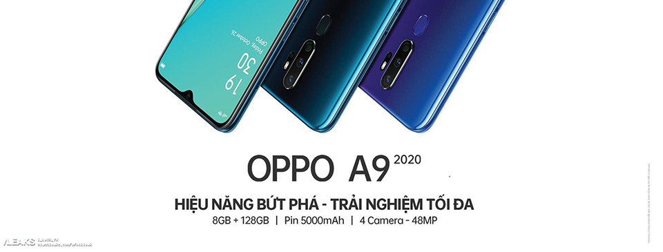 Sforum - The latest technology information page oppo-a9-2020-promo-and-antutu OPPO A9 2020 unexpectedly appeared in the promotional image: Water drop screen, 4 48MP rear cameras, 5,000 mAh battery