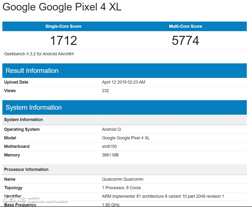Sforum - Google-pixel-4-xl-geekbench-runm - Latest tech information page google-pixel-4-xl-geekbench-runm Running Snapdragon 855 but the performance score of Pixel 4 XL loses even the mid-range chip