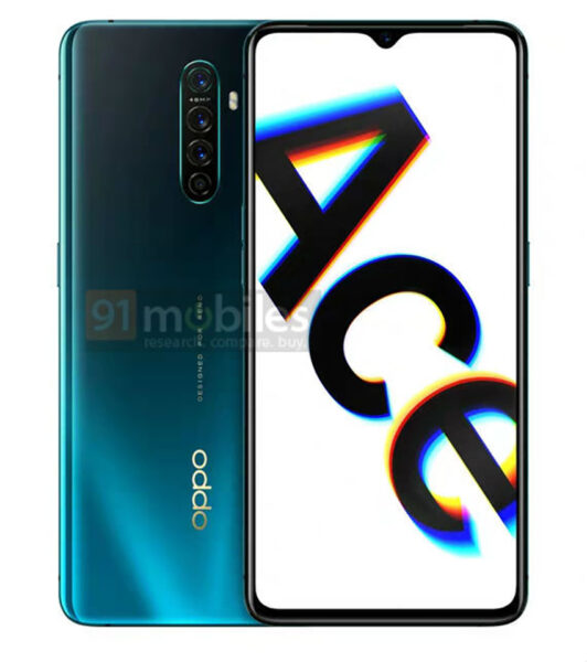 Sforum - Latest technology information page anh-render-OPPO-Reno-Ace-1-532x600 OPPO Reno Ace design fully reveals the edges in the new render image