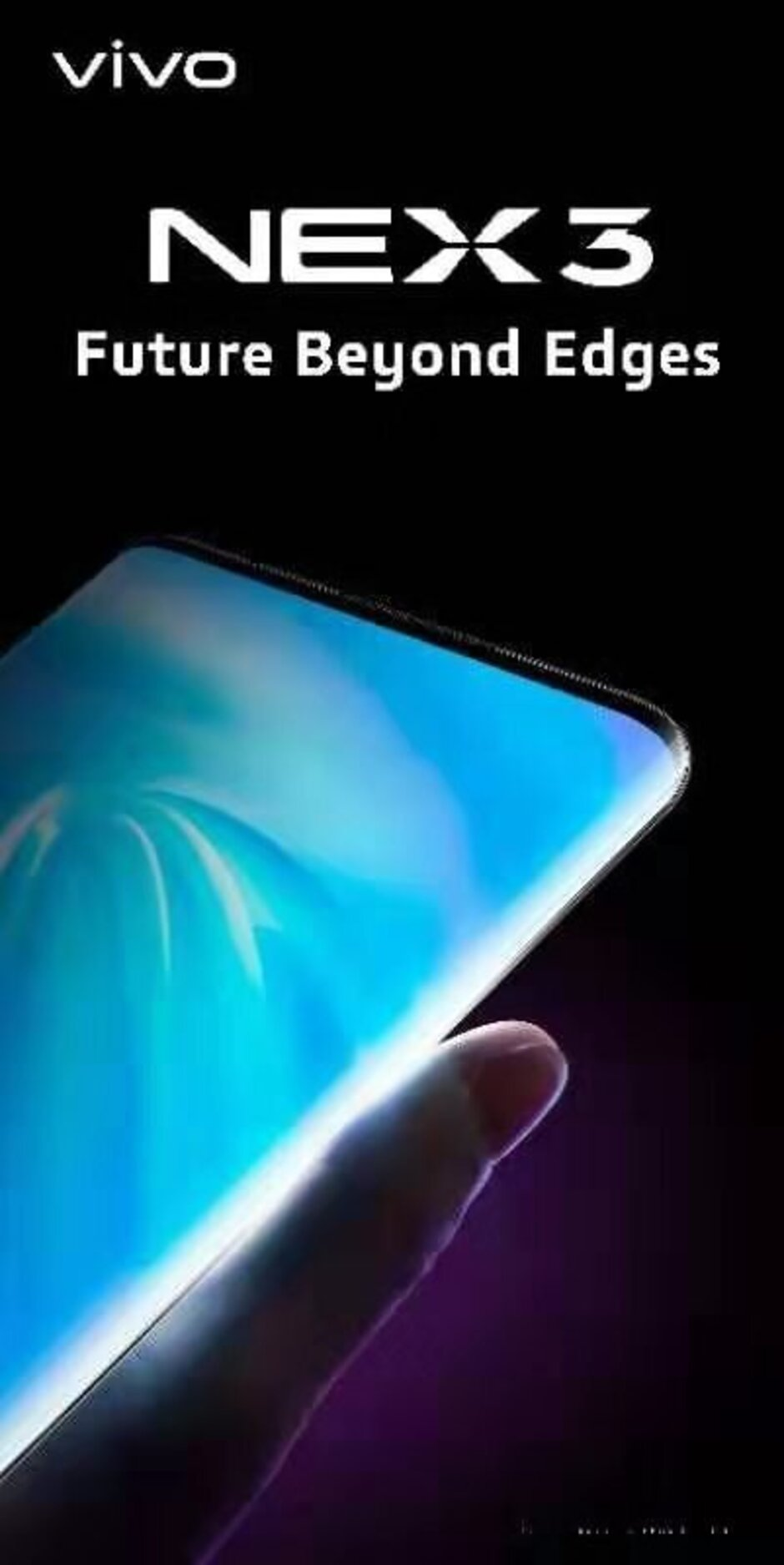 The NEX 3 5G features a curved waterfall display - Vivo NEX 3 5G unveiled with huge waterfall screen, Snapdragon 855+ and virtual buttons