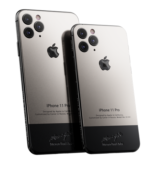 IPhone 11 version only for those born at the finish line: Full titanium armor, studded with Steve Jobs sweater, cost 225 million - Photo 1.