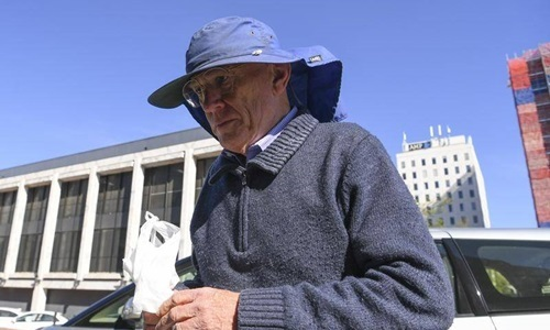 David Eastman outside the ACT Supreme Court, Canberra, Australia, earlier this month. Photo: AAP.
