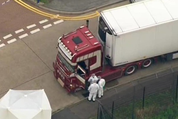 39 victims in the container are 'Chinese citizens'