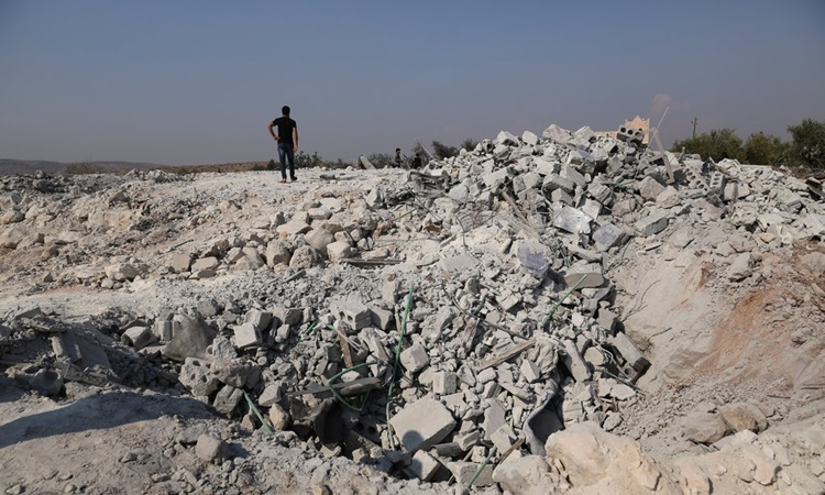 Rubble in the hideout of ISIS leader Baghdadi after US troops raided on October 26. Photo: NYTimes.