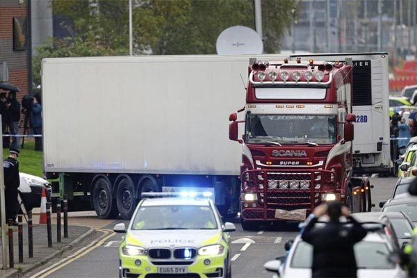 A driver carrying a container in Belgium to stand trial for 39 deaths