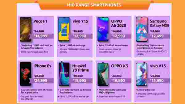 Amazon Fab Phones Fest Offers On Mid-Range Smartphones