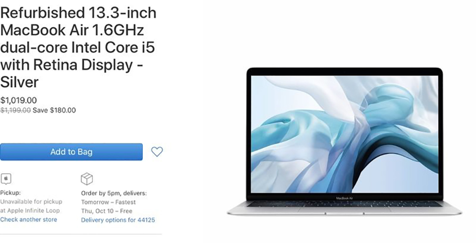 Sforum - Apple's latest refurbishedmacbookair-2 technology page starts selling refurbished MacBook Air and 13-inch MacBook Pro 2019 at nearly 15% discount