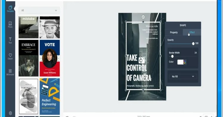 DesignCap: Create posters and brochures in minutes