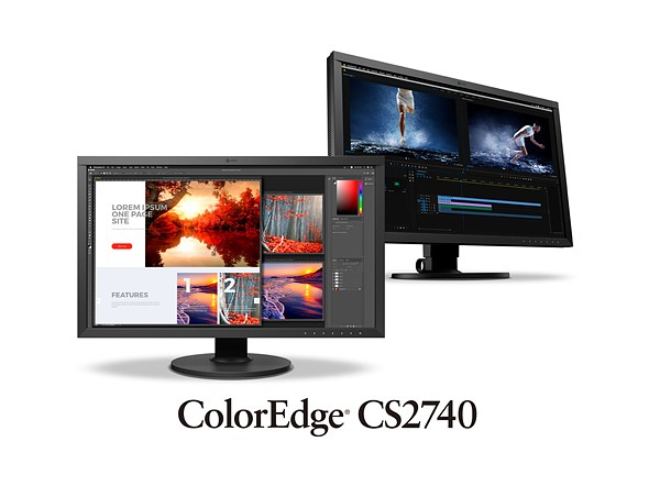 "Eizo announces 27"" 4K ColorEdge CS2740 monitor with USB-C connection, 10-bit input: Digital Photography Review"