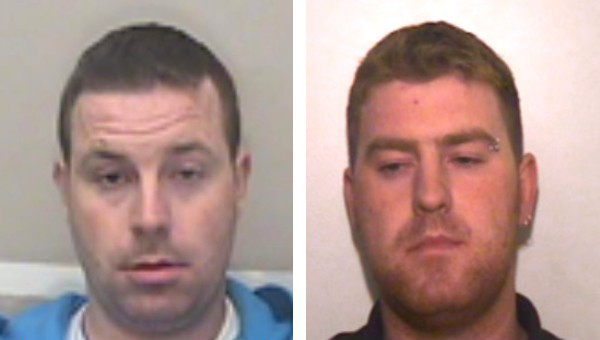 Two suspects Ronan (right) and Christopher Hughes. Photo: Essex Police.