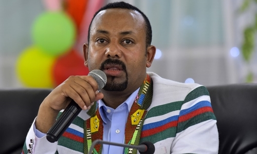 Ethiopian Prime Minister Abiy Ahmed in Kaffa on September 15. Photo: AFP.