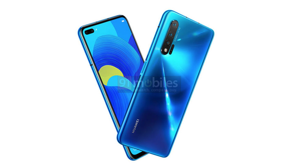 Sforum - Huawei-Nova-6-5G-1 technology information page Revealed render Huawei Nova 6 5G: Mole screen with dual selfie camera identical to S10 +