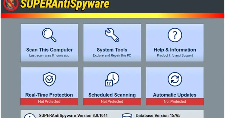 SUPERAntiSpyware Free: Scan your PC for spyware, adware Worms, KeyLoggers, HiJackers and other types of threats