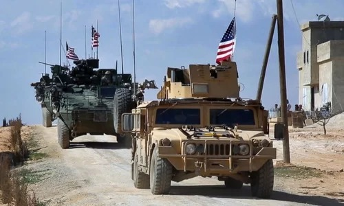 U.S. forces deployed in northern Syria in 2018. Photo: AP.