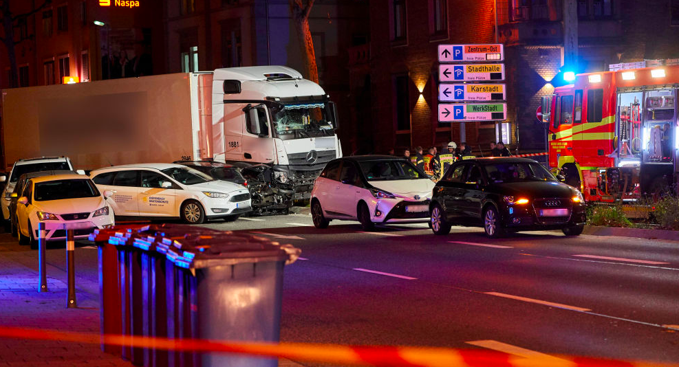 'Terrorist attack' in Germany, truck crashing madly