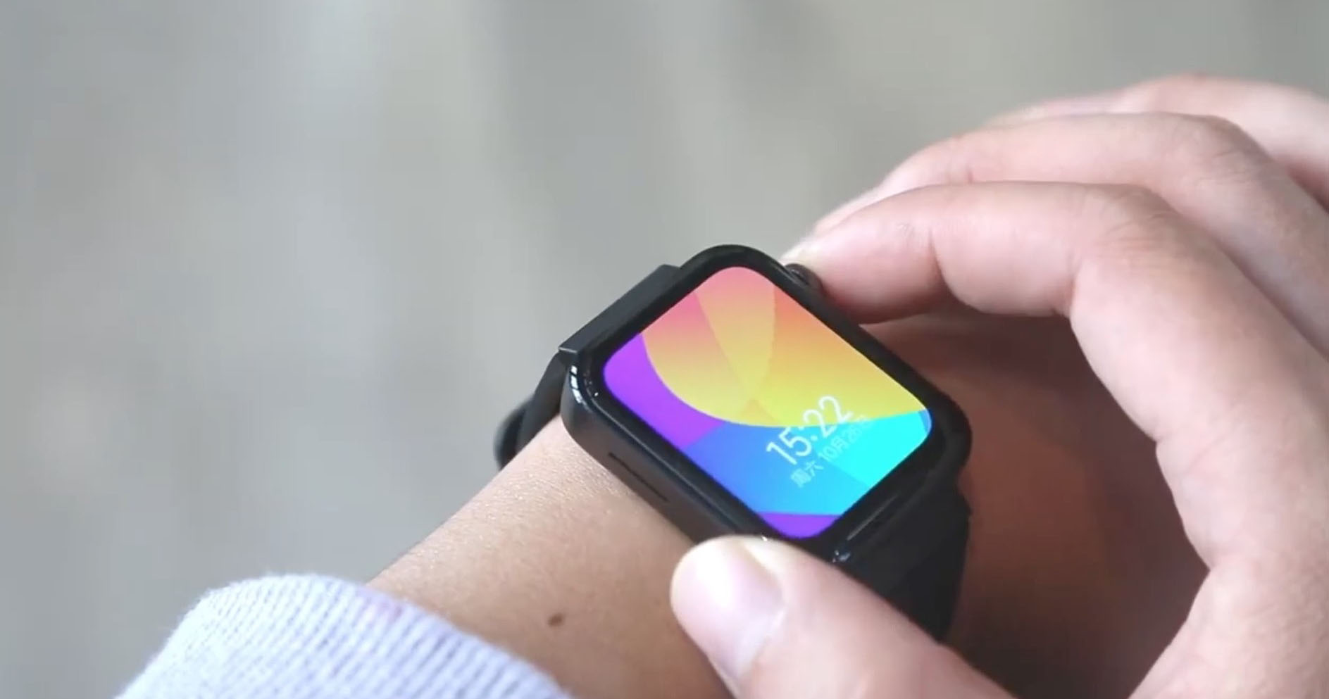 Sforum - The latest technology information page Xiaomi-Smartwatch-Hands-On-face [Video] On the hands of Xiaomi Mi Watch before the launch date