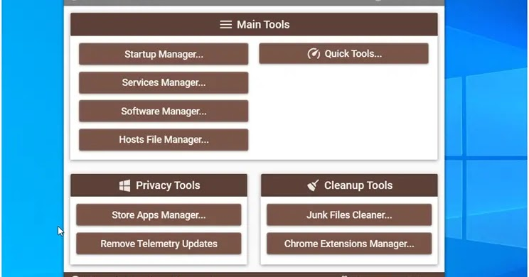 XTR Toolbox: Flexible portable software for cleaning and optimizing Windows.