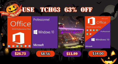 Buy Windows 10 Pro, Office 2019 copyright only 200,000 VND on the occasion of Halloween