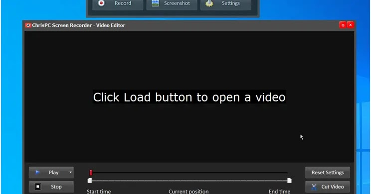ChrisPC Screen Recorder: Screen and video recorder application