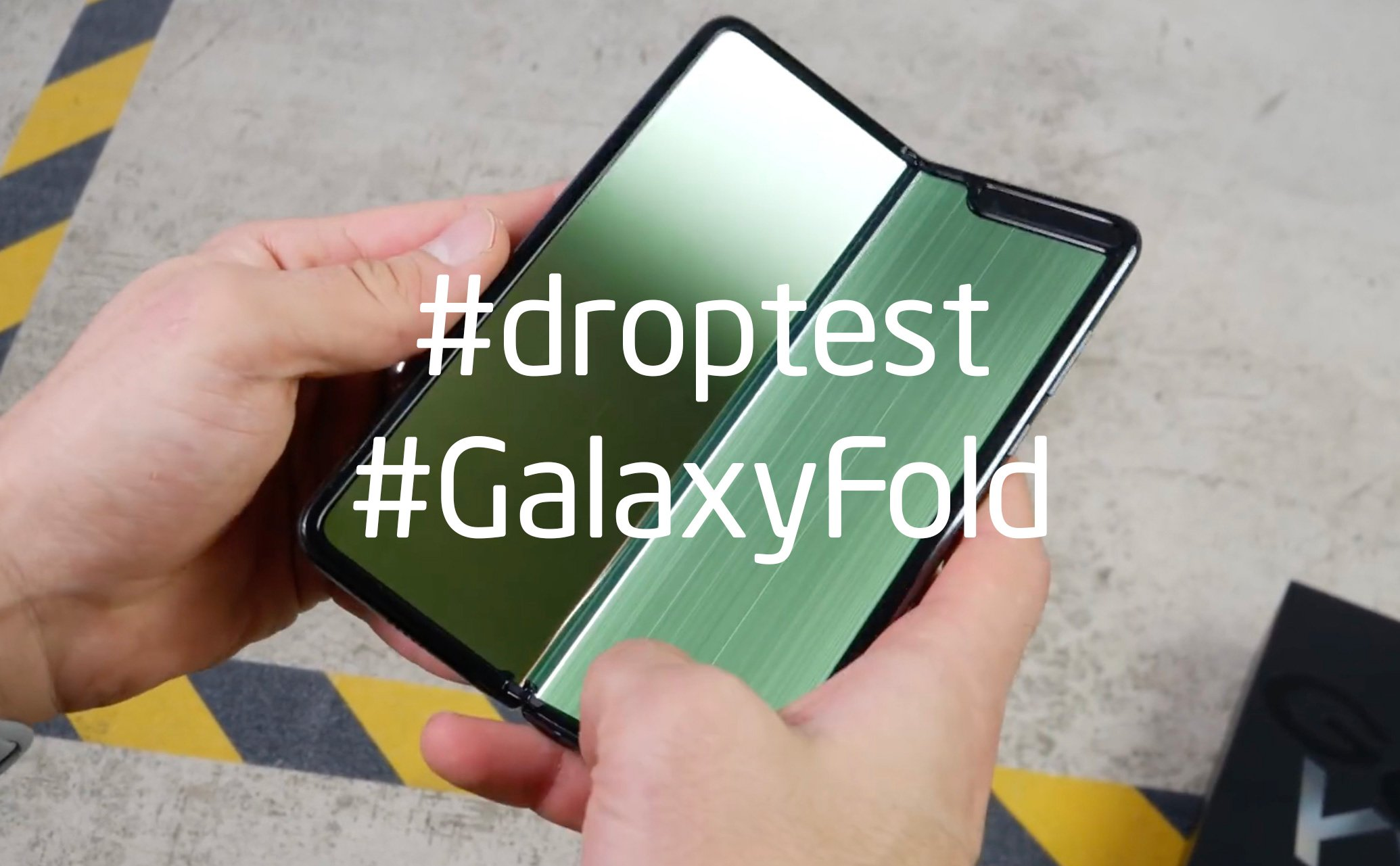 Droptest Galaxy Fold: very durable