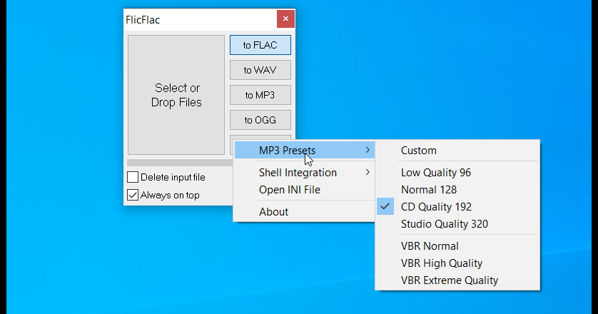 FlicFlac: The simplest music file converter