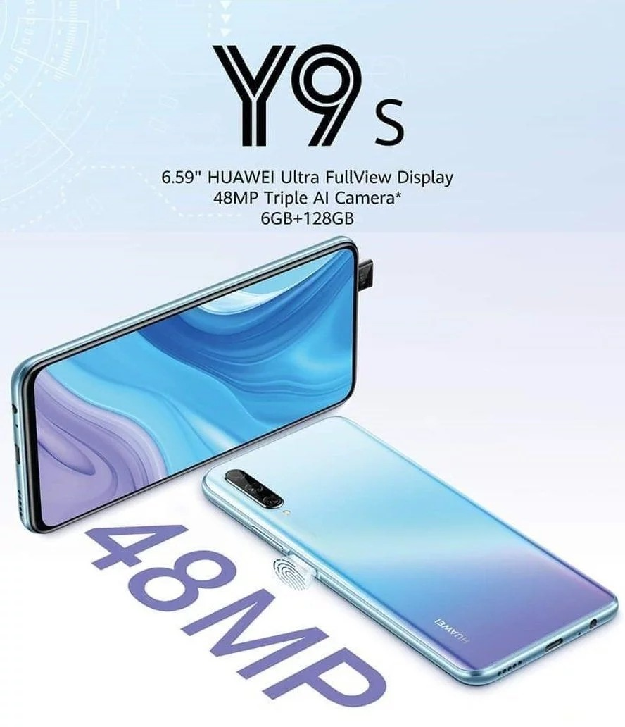 Sforum - Huawei-Y9s-poster technology information page Huawei Y9s is about to launch: Sliding camera, 6GB RAM, fingerprints right on the power button and very affordable price