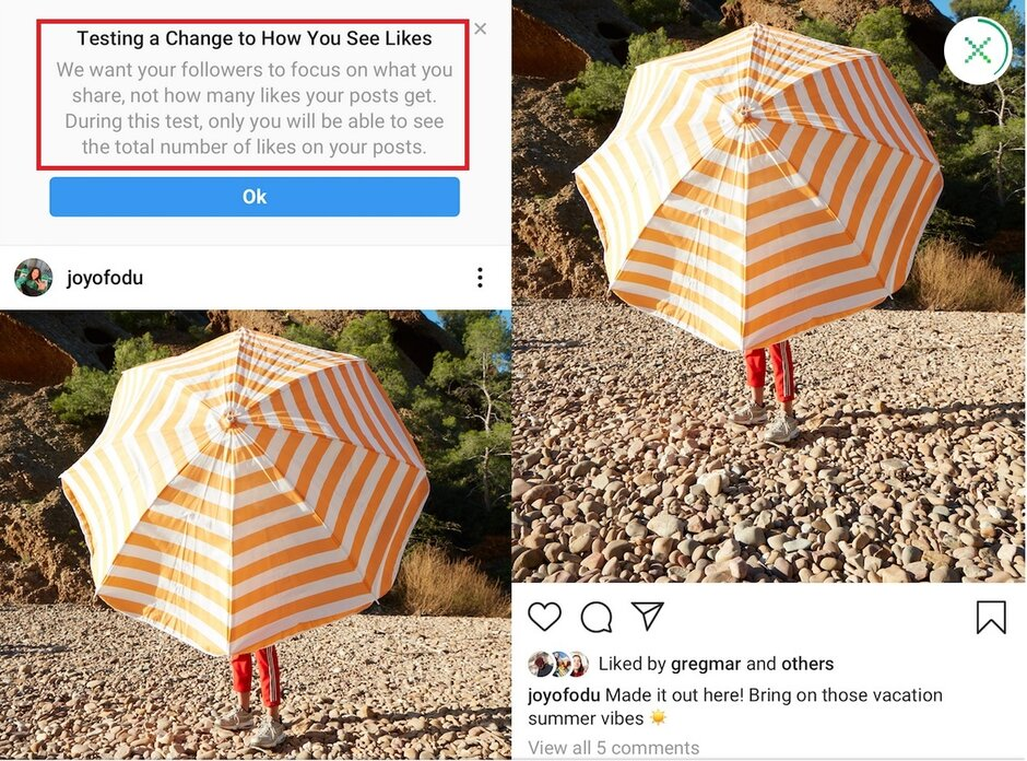 Instagram will test hidden Like counts in the U.S. - Instagram tests hiding