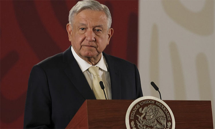 Mexican President Lopez Obrador at a news conference on November 29 in Mexico City. Photo: Notimex.
