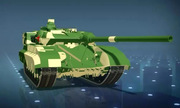 Model of main tanks & # 039; patchwork & # 039; of China
