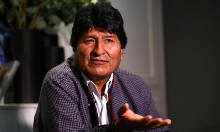 Former Bolivian President Evo Morales gave an interview in Mexico on October 15. Photo: Reuters.