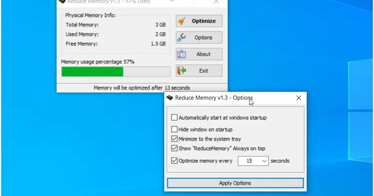 Reduce Memory: Free up more memory on your computer