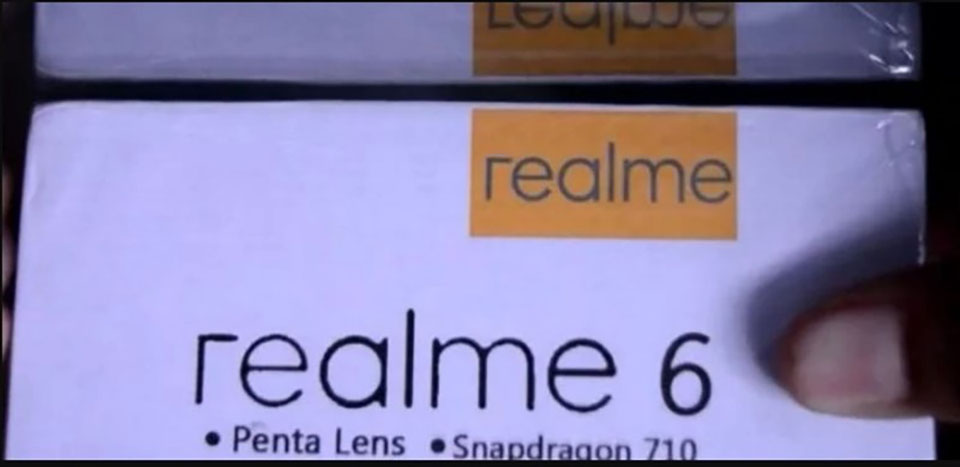 Sforum - Latest technology information page realme-6-1 Retail box shows that Realme 6 will have 5 rear cameras, using Snapdragon 710 chip
