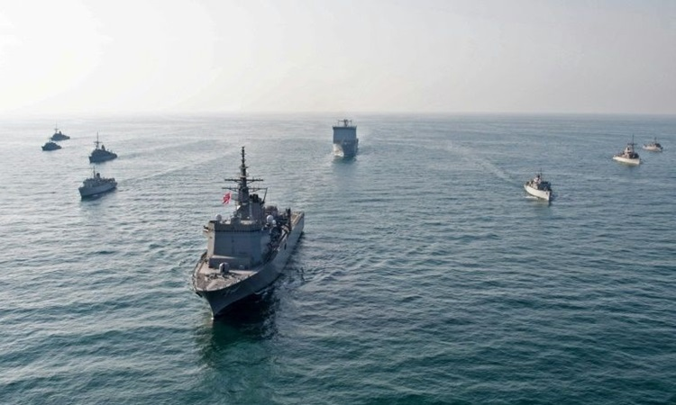 The ships of the US Navy's Fifth Fleet are based in Bahrain. Photo: AFP.