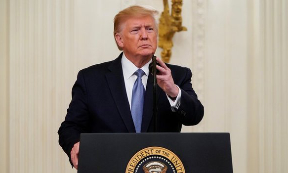 US President Donald Trump at an event at the White House on October 30. Photo: Reuters.