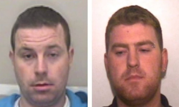 Two suspects Christopher Hughes (left) and Ronan Hughes. Photo: Essex Police.